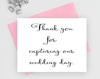Thank you for capturing our wedding, wedding stationery, wedding thank you, folded wedding cards, wedding note cards, wedding card