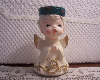 Little Boy Angel Votive Candle Holder Figurine
