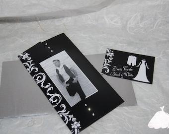 Black and White glamorous and Chic invitation