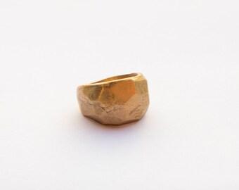 Brass ring, handmade