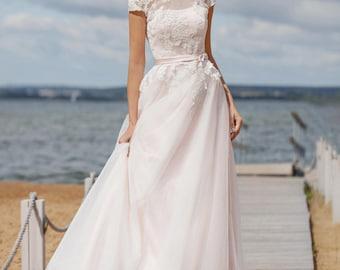 Pink Wedding Dress Etsy - Light Wedding Dress