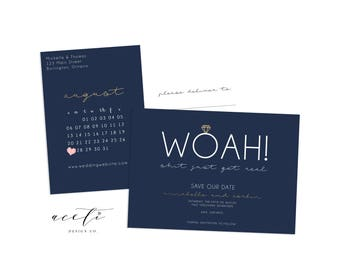 Sh*t Just Got Real, Funny Save the Date, Rustic Save the Date, Save the Date Postcard, Save the Date Calendar, Printable Save the Date