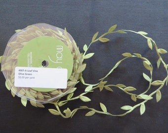 Olive Green Leaf Vine Trim 4007A