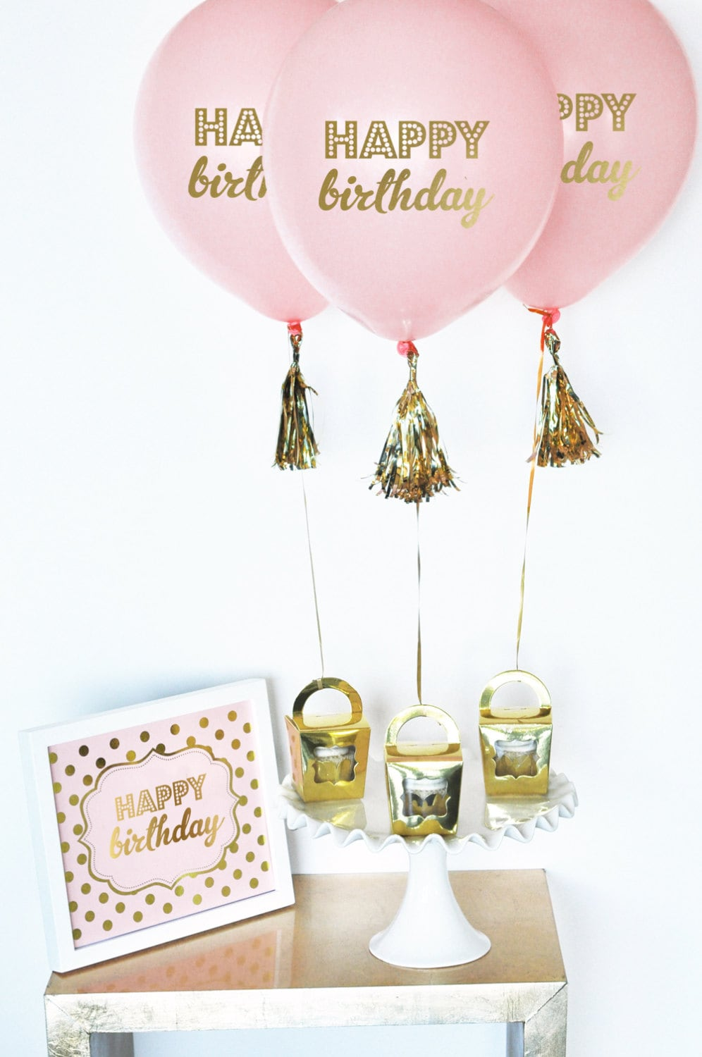 Happy Birthday Balloons Black and Gold Birthday Decorations Adult ...