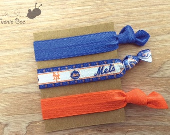 Mets Hair Ties - New York Mets - Mets - Mets Baseball - NY Mets - Hair Ties - Baseball Hair Ties