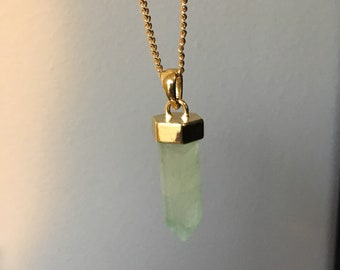 Green and Gold Crystal Necklace