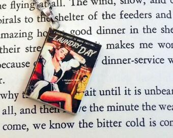 Laundry Day - Book Pendant