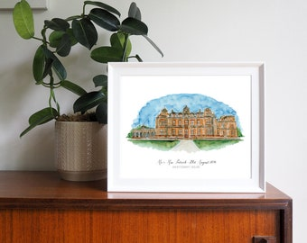 Westonbirt House Wedding Venue Personalised Framed Print