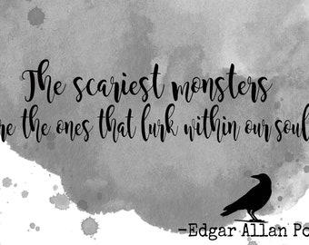 Edgar Allan Poe Quote Printable Art