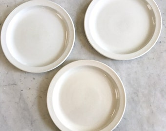 Vintage MidWinter Stonehenge 3 White Dinner Plates 10 Inch