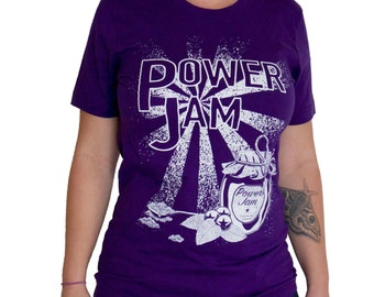 Power Jam roller derby T-shirt - Purple