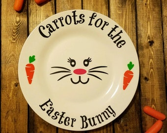 Carrots for the Easter Bunny Glass Plate