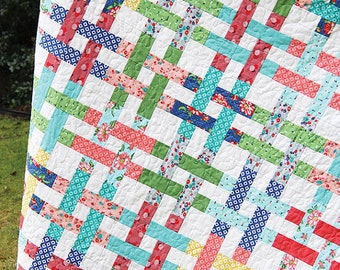 Basket Case Quilt Pattern -  Cluck Cluck Sew #116 - Jelly Roll Friendly Quilt Pattern - Strip Quilt Pattern - Five Sizes Included
