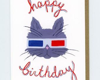 3D Cat Birthday