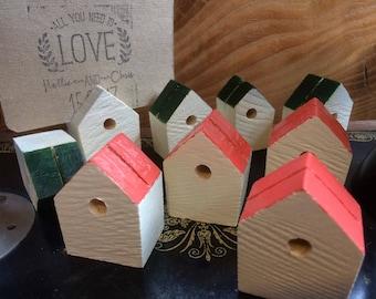 Wedding place card holders. Bird box style. (x10).