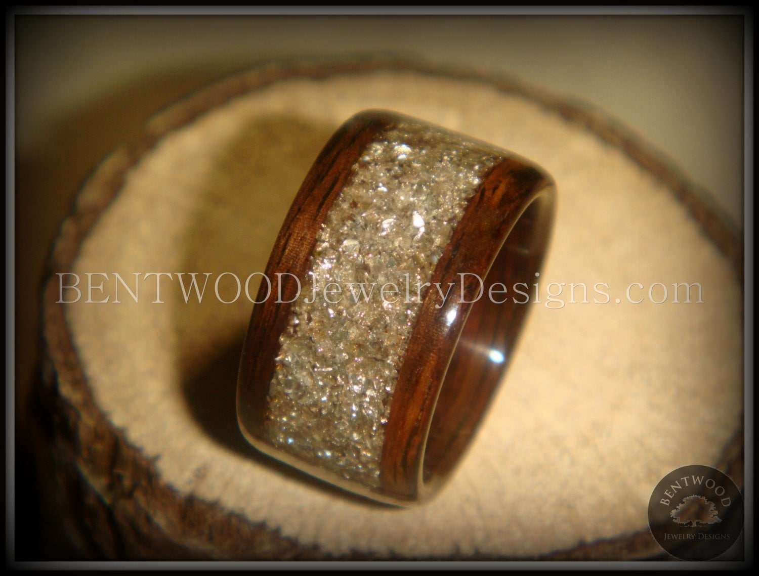 ring wood with rings from copper stripe northernroyal bentwood oak wedding made a products