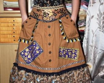 boho patchwork skirt