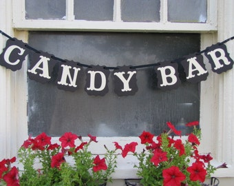 CANDY BAR Banner, Candy Bar Sign, Wedding Sign, Candy Bar Display, Candy Bar Decoration, Party Decoration,