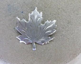 Vintage Sterling Leaf Pin