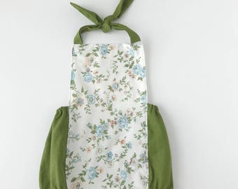 12-18 month OOAK olive floral boho romper // floral romper // lace romper // vintage baby romper // toddler romper // summer romper