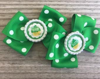 St Patricks Day Bow / Green Bow/ Holiday Bows