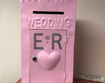 Pink Vintage Metal Post Box Hire