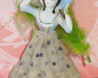 Vintage - Small Enesco Lace Doll Figurine 1950s