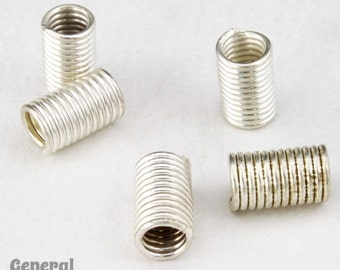 5mm x 10mm Silver Wire Tube Bead (30 Pcs) #4118