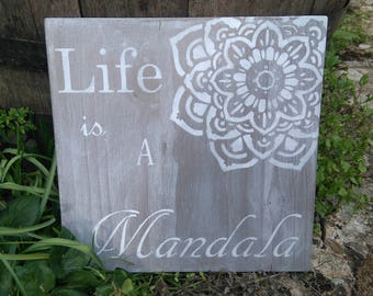 Mandala wall panel
