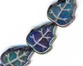 Purple Iris leaf, strand of 10. B11-MI-0048(e)
