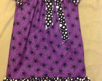 Halloween spider dress black and purple dress
