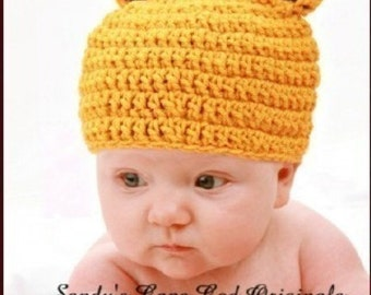 Giraffe Baby Beanie Crochet Pattern PDF 274