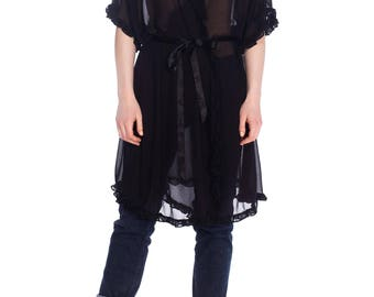 1920s Style Chiffon Robe From The 1990s Size: FR