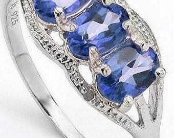 1.4 carat tw genuine tanzanite ring size 6.5