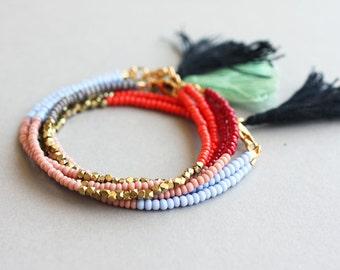 Bracelet Boho, perles Bracelet bohémien, Friendship Bracelet, Bracelet pile, empiler Bracelet, Bracelet pour les femmes, cadeau pour les femmes, Boho cadeau