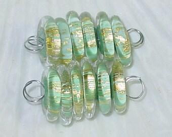 BHG  Golden eucalyptus  discs--set of six