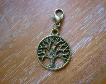 Tree of Life Celtic style Clip Charm,BronzeTree of Life add a Charm