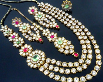 Necklace set Indian necklace | Wedding Jewelry Indian Jewelry |Indian Bridal Jewelry | Kundan Jewelry | Indian Wedding Jewelry