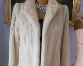 Gorgeous 1960's White Mink Stroller/Jacket