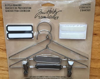 Tim Holtz Display Hangers, 2 in Package, Mixed Media,Scrapbooking Supplies,Destash