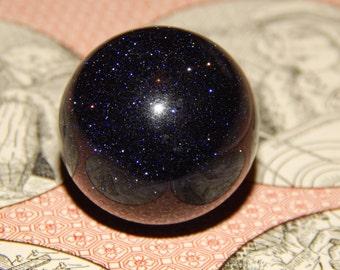 SUNSET SITARA ORB - Blue Goldstone Gemstone Sphere - 30mm Gemstone - Metaphysical Crystal - Chakra Stones - Gemstones - Crystal Healing