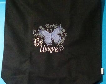 Be Unique Butterfly Canvas Tote