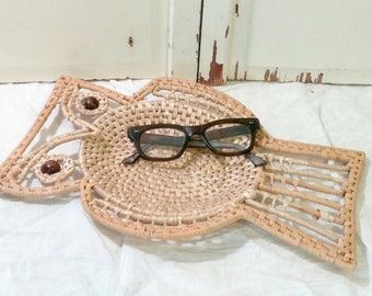 Vintage Owl Basket