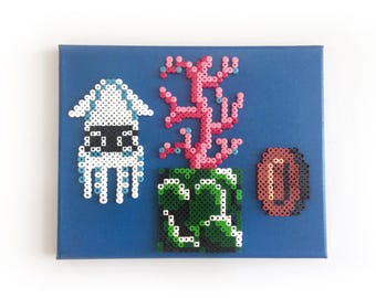 Super Mario Bros. Perler Pixel Painting Blooper / Perlainting