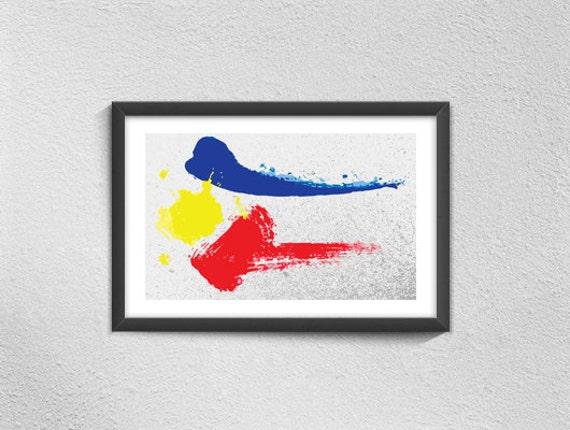 Philippines Flag Art Print Filipino American History Month