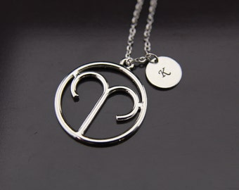 Silver Aries Charm Necklace Aries Necklace Aries Charm Aries Pendant Aries Sign Of Zodiac Constellations Necklace Personalized Necklace