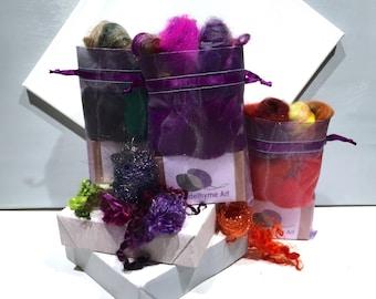Peppermint Soap Felting Kit, Felted Soap Kit, DIY Gift, Stocking Stuffer, Wool Craft Kit, Wet Felting, DIY felted soap kit, Organic Soap