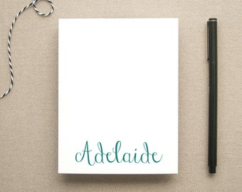 Personalized Feminine Name Notepad / Small Notepad for a Woman / Personal Memo Pad / Custom Notepad
