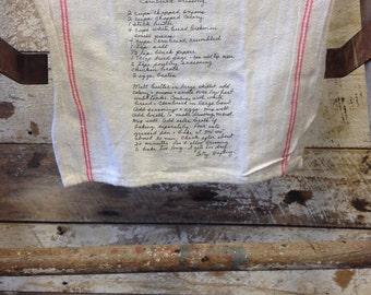 Recipe Tea Towel BULK Shipping 20+ Same Print Double Red Stripe Personalized Tea Towel 22x13 // Recipe Tea Towel
