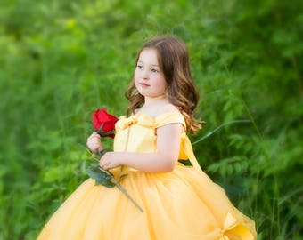 Princess Belle Tutu Dress- Belle Dress- Belle Costume- Beauty and the Beast